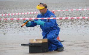 Unexploded Flares on Brean Beach