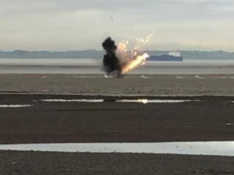 Controlled Explosion on Chalkwell Beach
