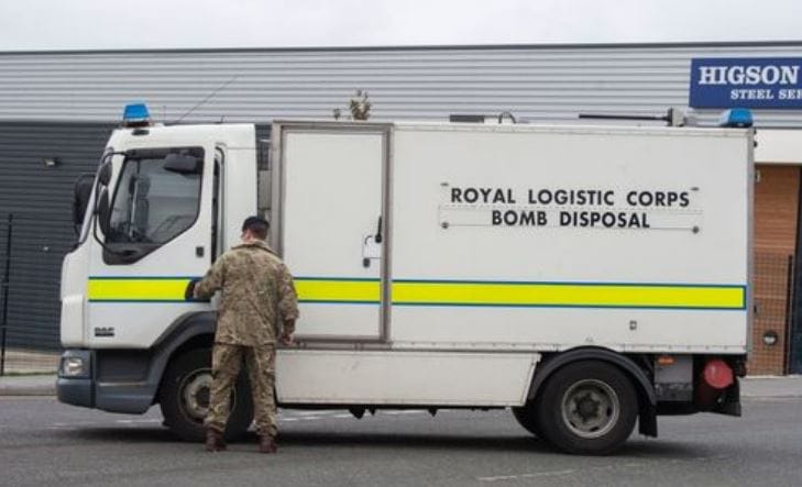 Suspected Artillery Shell Found on Liverpool Industrial Estate
