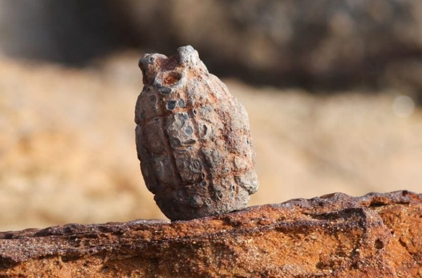 Unexploded Grenade Found on the Beach Near Sandown
