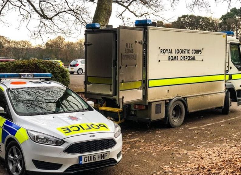 Controlled Explosion as Hand Grenade Found in Surrey Shed