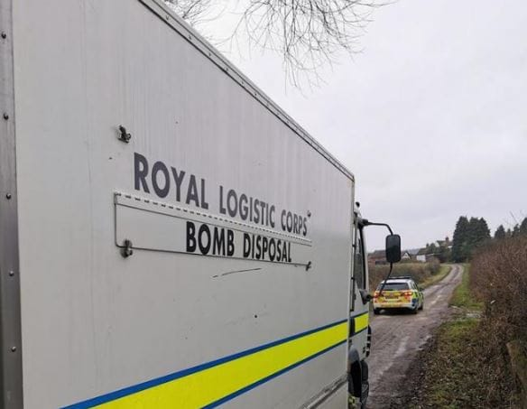 Controlled Explosion as WWI Grenade Found in Warwickshire