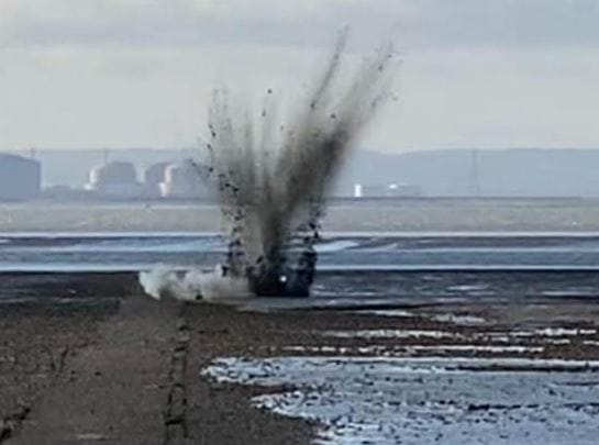 Sixteen Items of UXO Found on Southend Beach
