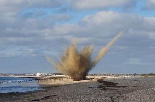Latest UXO on Medmerry Beach Destroyed in Controlled Explosion