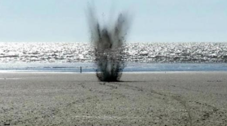 Controlled Explosion for WWII Shell Found on Brean Beach