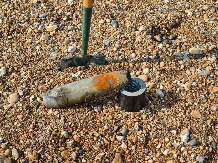 More Unexploded Shells Found on the Beach at Sandwich Bay