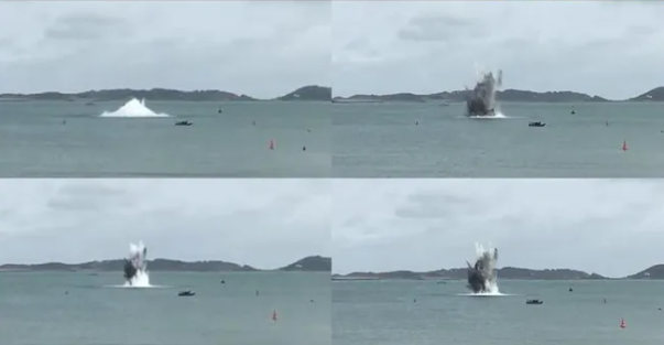 Suspected Depth Charge Found Off Guernsey Destroyed in Controlled Explosion