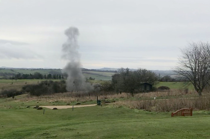 Controlled Explosion for Mortar Found at Wiltshire Golf Course