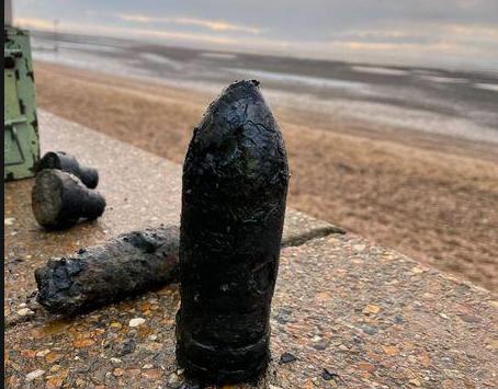 More UXO Found on the Beach Near Southend