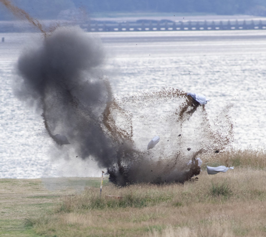 Controlled Explosion for UXO Found in Edinburgh