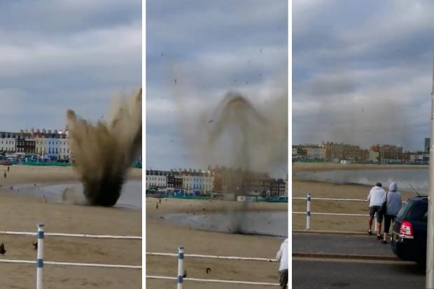 Controlled Explosion for Object Found on Weymouth Beach
